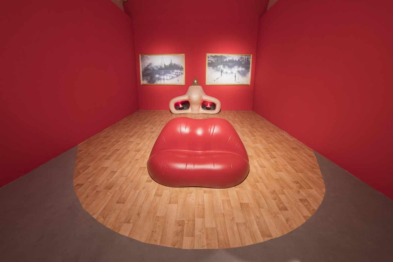 Reconstrucción de Óscar Tusquets de 'Retrato de Mae West que puede utilizarse como apartamento surrealista', de Dali.