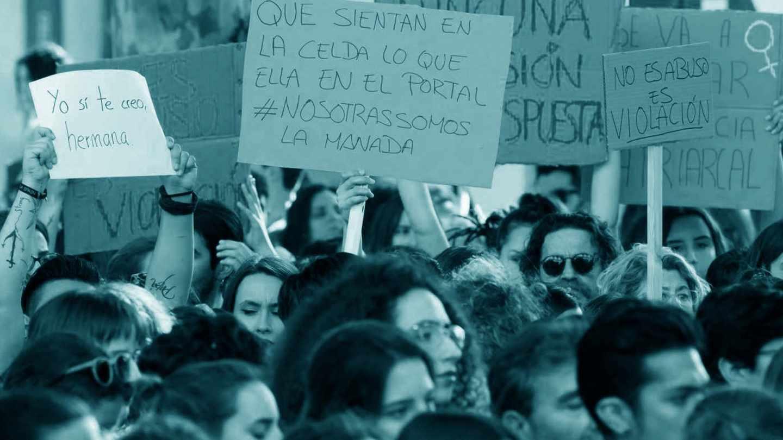 Manifestación contra la sentencia judicial de La Manada.