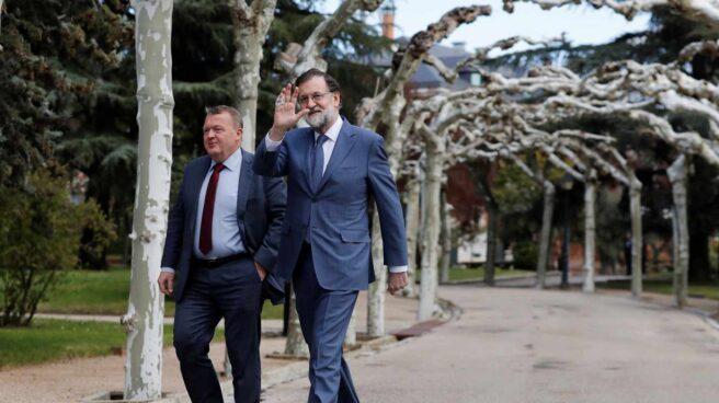 Mariano Rajoy, este viernes junto al primer ministro danés.