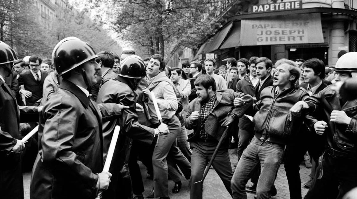 Imagen de las protestas de mayo del 68.