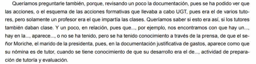 Intervención del diputado Torrico durante la comparecencia de Fresneda en el Parlamento de Andalucía.