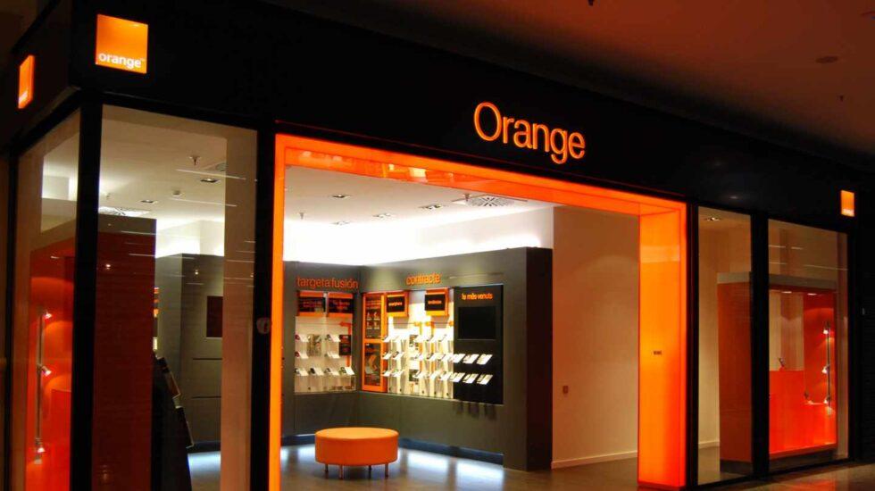 Una tienda de la red de Orange en España.