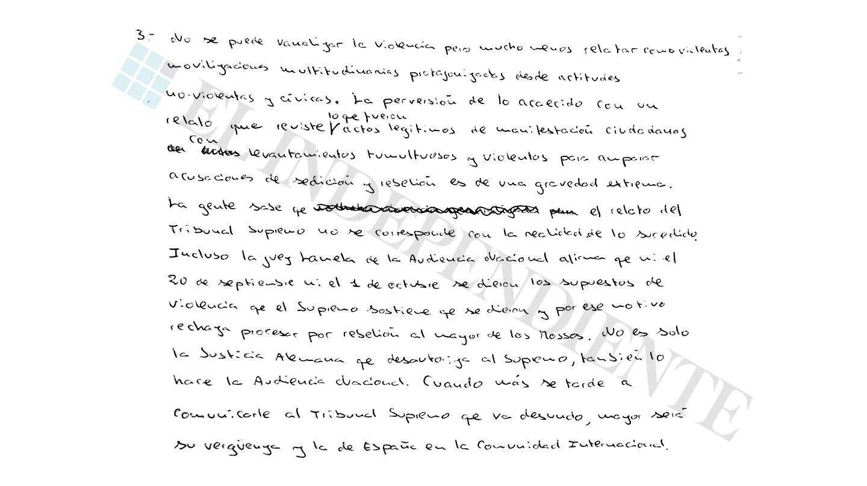 Extracto de la entrevista con Jordi Sánchez (preg. 3)