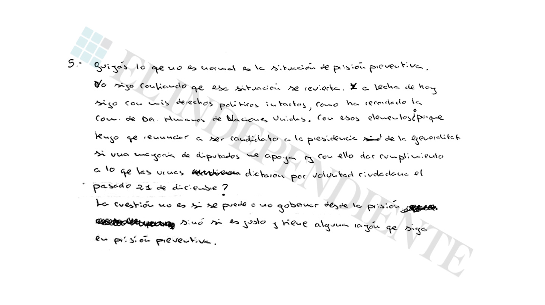 Extracto de la entrevista con Jordi Sánchez (preg. 5)
