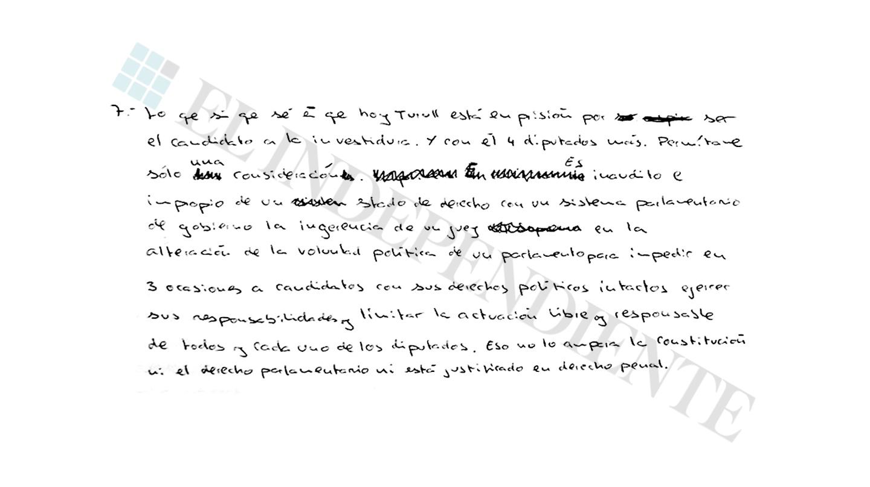 Extracto de la entrevista con Jordi Sánchez (preg. 7)