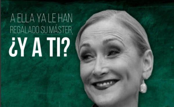 Cartel de la concentración contra Cristina Cifuentes.
