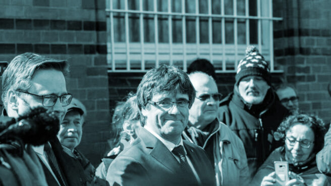 Carles Puigdemont, el viernes 6 de abril tras abandonar la prisión de Neumünster.