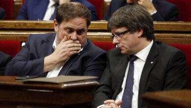 Puigdemont y Junqueras trasladan su rivalidad a Estrasburgo tras renunciar al Parlament