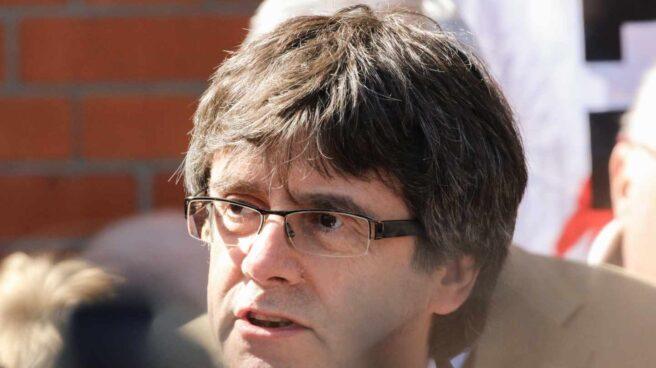 Carles Puigdemont, tras salir de la prisión alemana de Neumünster.