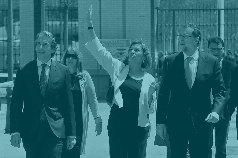 Íñigo de la Serna, Dolores de Cospedal y Mariano Rajoy.