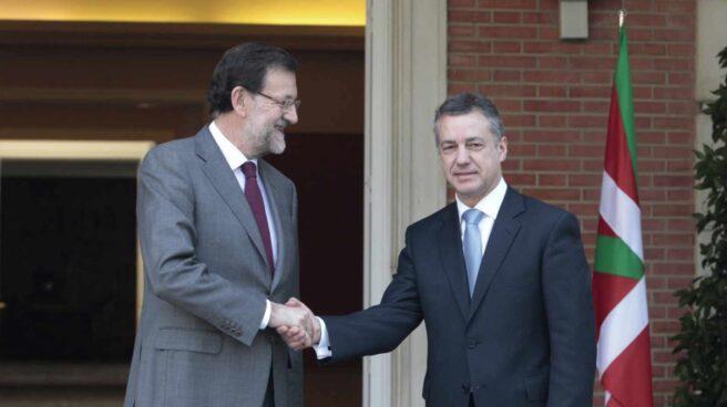 El presidente del Gobierno, Mariano Rajoy, y el lehendakari, Íñigo Urkullu.