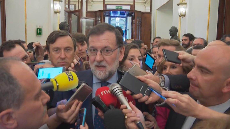 Rajoy declarando ante la prensa
