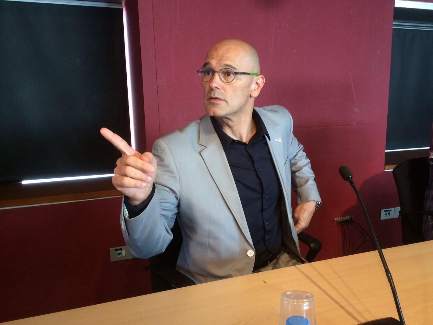 Raül Romeva, ex responsable de Asuntos Exteriores de la Generalitat.