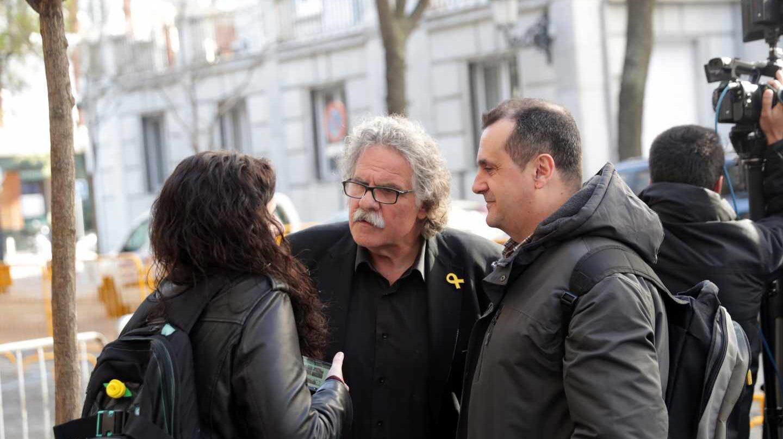 El diputado de ERC Joan Tardà, en las inmediaciones del Tribunal Supremo durante las declaraciones de Joaquim Forn, Raúl Romeva y Josep Rull.