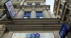 Exterior de una sucursal del banco británico TSB en Londres