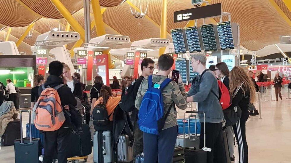 Turistas extranjeros en el aeropuerto de Barajas.