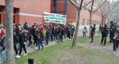 Manifestación de estudiantes de la URJC pidiendo la cabeza del rector, el pasado 8 de abril.