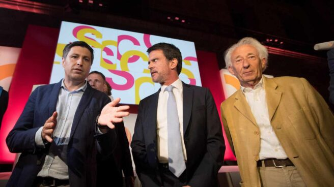 Manuel Valls, durante un acto de Sociedad Civil Catalana.