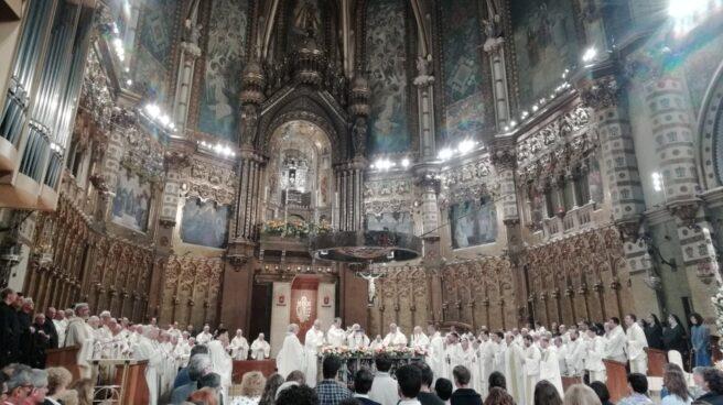 Vigilia en honor de la virgen de Montserrat, el pasado jueves.