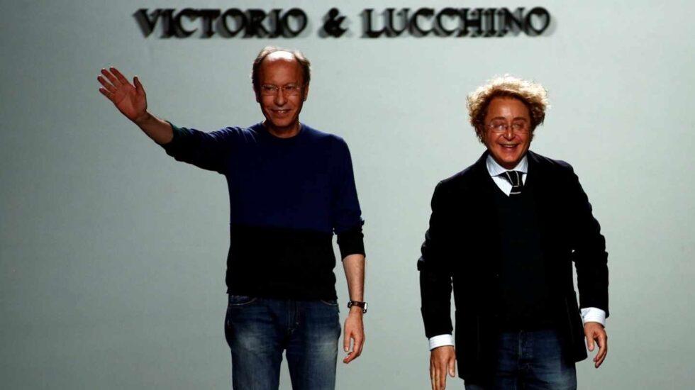 Los diseñadores andaluces Victorio y Lucchino, en la Mercedes Benz Madrid Fashion Week 2017.