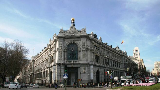 Sede central del Banco de España en la plaza de Cibeles en Madrid