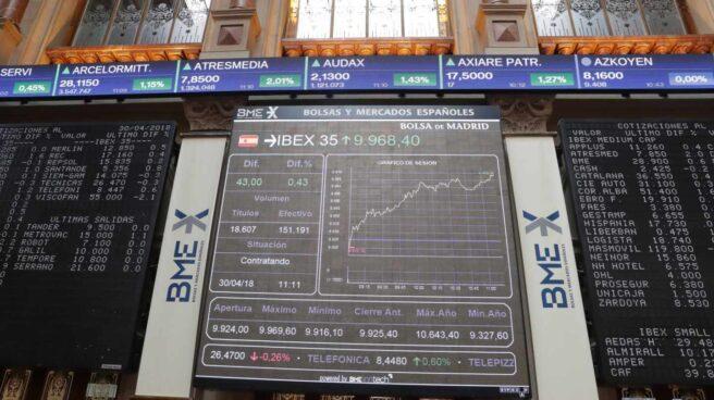 El Ibex reconquista los 10.000 puntos tres meses después y borra sus pérdidas de 2018.