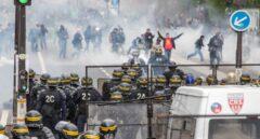 Disturbios en París en las manifestaciones del 1 de Mayo.
