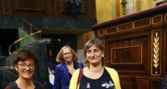 Las tres diputadas del Parlament que han defendido la despenalización de la eutanasia: Assumpta Escarp (PSC), Alba Vergés (ERC) y Marta Ribas (En Comú Podem).