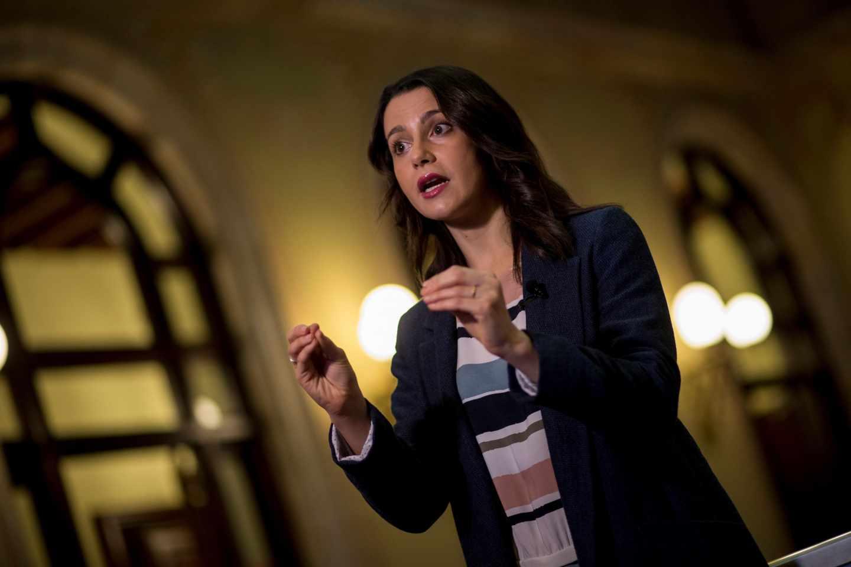 Inés Arrimadas, en el Parlament.