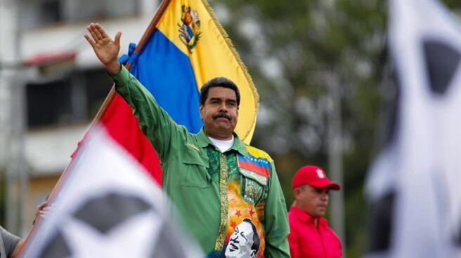 El presidente venezolano, Nicolás Maduro, en el último acto de campaña en Caracas.