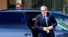 El presidente de la Generalitat, Quim Torra, llega a la cárcel de Soto del Real.