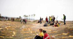 Guerra de símbolos en las playas de Barcelona.