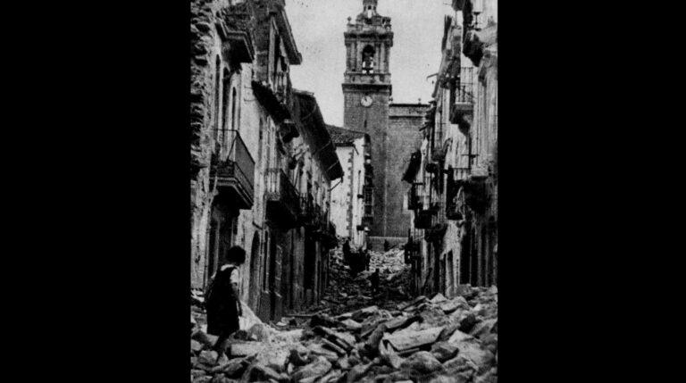 Destrucción en Albocàsser.