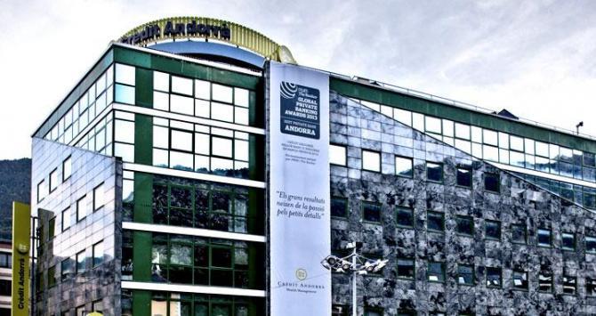 La sede central de Crèdit Andorrà en el Principado