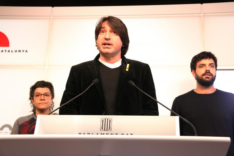 Francesc de Dalmases, en el Parlament.