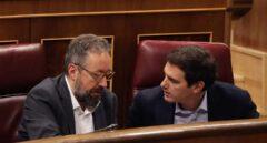 Juan Carlos Girauta y Albert Rivera, en el Congreso.