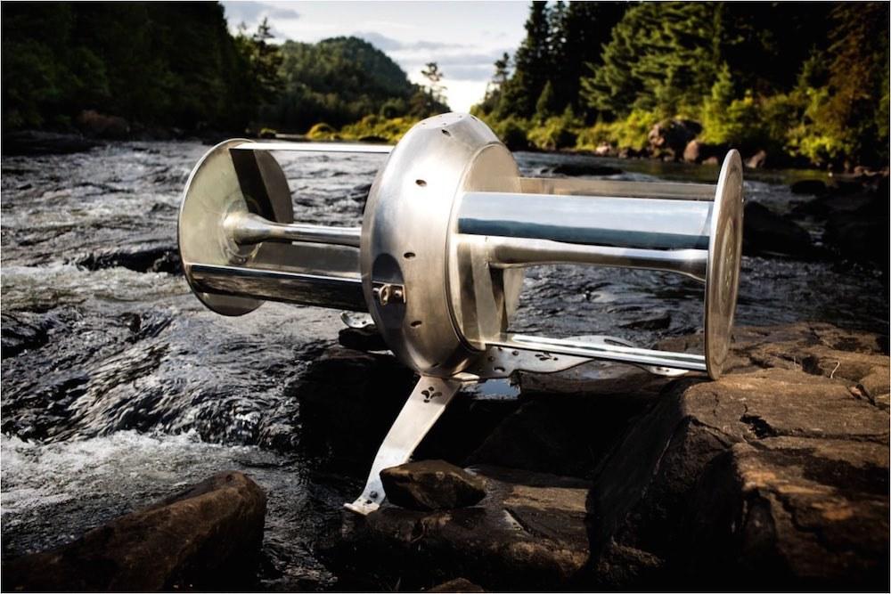 Turbina flotante de la empresa Idénergie.