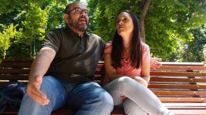 Los padres de Armando Cañizales, en su residencia actual en Madrid.