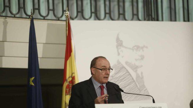 Luis María Linde, gobernador del Banco de España en las Conversaciones con El Independiente.
