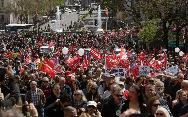 Manifestación del 1 de Mayo en Madrid.