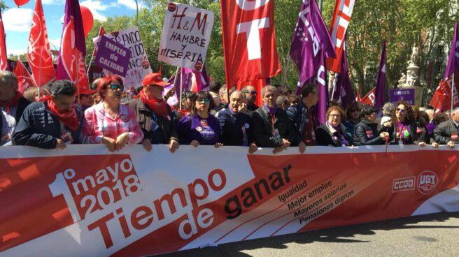 Cabecera de la manifestación del 1 de Mayo.
