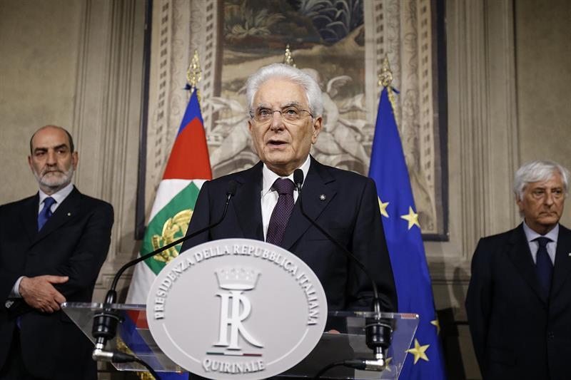 Sergio Mattarella, presidente de Italia, en el Quirinal.