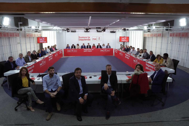 Reunión de la Ejecutiva Federal del PSOE presidida por Pedro Sánchez.