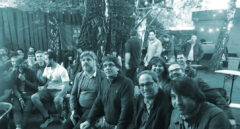 Carles Puigdemont y Quim Torra en la peña barcelonista de Berlín el pasado 6 de mayo.