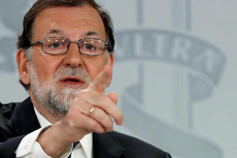 Mariano Rajoy, en su comparecencia en la Moncloa.