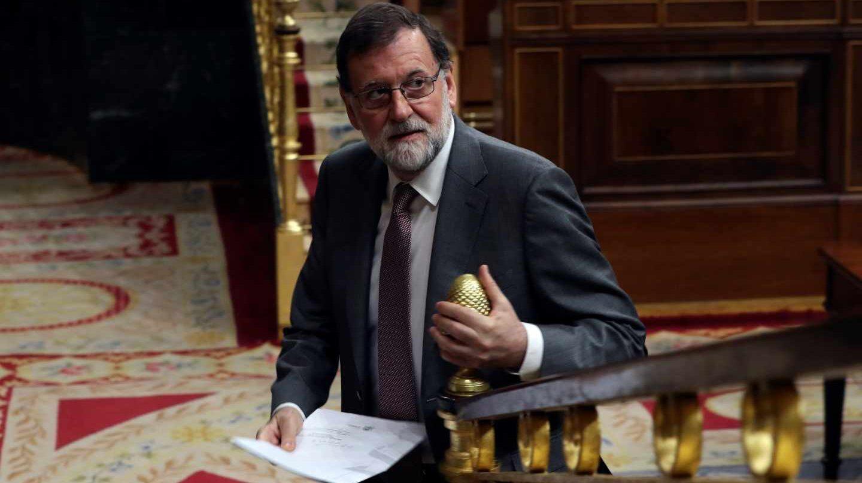 Mariano Rajoy, en la sesión de control al Gobierno.