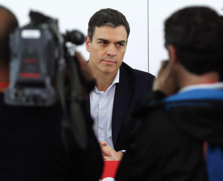 Pedro Sánchez, en la Ejecutiva Federal del PSOE.