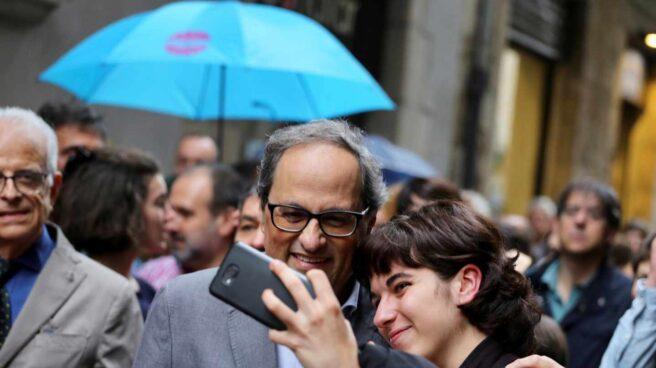 El presidente de la Generalitat, Quim Torra, visita Girona.