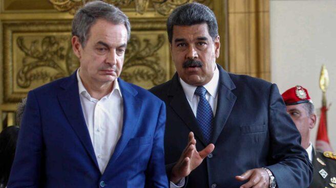 José Luis Rodríguez Zapatero y Nicolás Maduro, en Caracas.