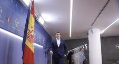 El líder de Ciudadanos, Albert Rivera, antes de una rueda de prensa en el Congreso.